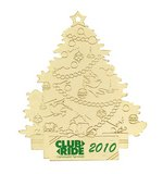 Christmas Tree with Gift Gold Ornament