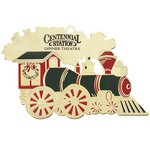 Train Festive Holiday Ornament with Color Trim