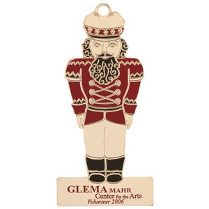 Nutcracker Shape Christmas Ornament Color Accents