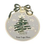Christmas Ball Holiday Ornament with Tree & Color