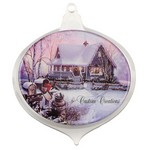 Round Acrylic Ornament with Full Color Epoxy Dome