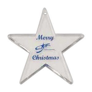 Star Shaped Sparkling Acrylic Ornament