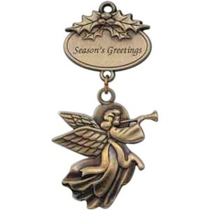 Golden Angel - Petite Ornaments with Oval Plates