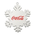 Cast Silver Snowflake Ornament