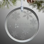 Glass Round Ornament