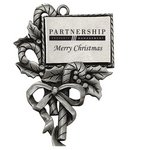 Pewter Finish Candy Cane Ornament
