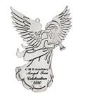 Silver Finish Angel Ornament