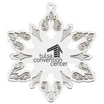 Silver Holiday Snowflake Ornament with Imprint