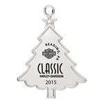 Silver Tree Shape Custom Christmas Ornament