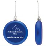 Blue Shatter Proof Round Flat Ornament