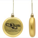 Gold Shatter Proof Round Flat Ornament