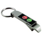 Stock Bottle Key Tag - Full Color Imprint
