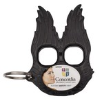 Guardian Angel Defense Keychain Black with Full Color Imprint
