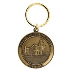 Custom Die Struck Brass Keychain (1 1/2 in.)