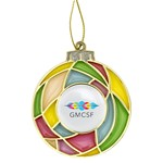 Stained Glass Bulb Ornament with Full Color Logo Imprint