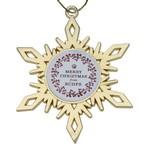 Gold Snowflake Holiday Ornament