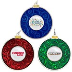 Classic Round Tree Bulb Ornament with Full Color Logo Imprint