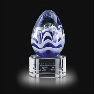 Astral Art Glass Award on Clear Base - 4.5 in. High