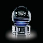Tranquility Art Glass Award on Clear Base - 4 in. High