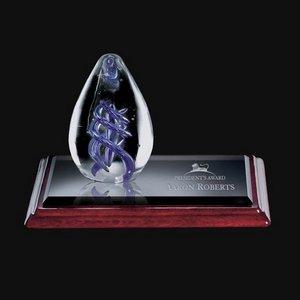 Expedia Art Glass Award on Albion Base