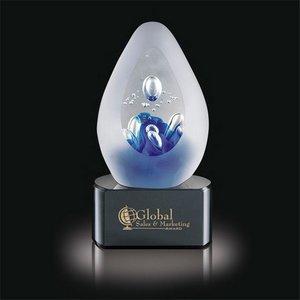 Galaxy Art Glass Award on Black Base - 5.5 in. High