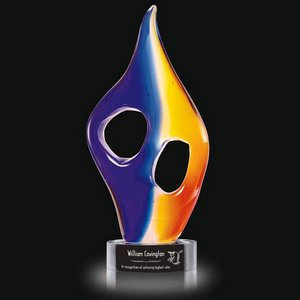 Inferno Flame Award on Clear Base - Small 9.5 in.