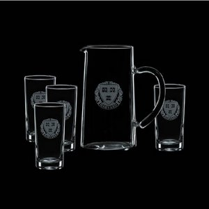 Aristocrat Pitcher and 4 Hiball Glasses