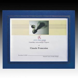 Cornell Certificate Holder - 8.5 in. x 11 in. Blue