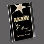 Pickering Acrylic Star Award - 5 in.x7 in. Gold