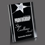 Pickering Acrylic Star Award - 6 in.x8 in. Silver