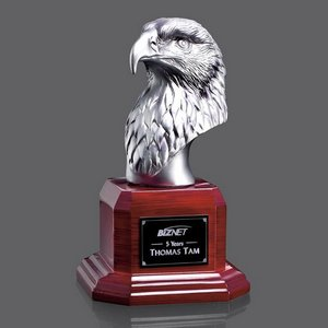 Atlantic Eagle Award- Silver/Rosewood 8 in.