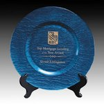 Deerfield Award Plate - 13 in. Blue