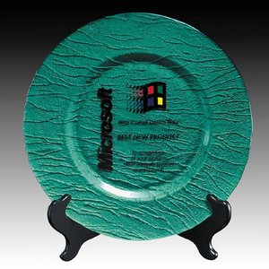 Deerfield Award Plate - 13 in. Green
