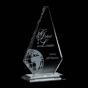 Windsor Award - Jade Glass Award 12.5 in.