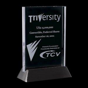 Walkerton - Jade/Black Glass Award 5 in.x7 in. Vertical