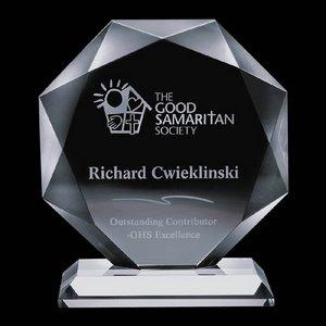 Bradford Award - Jade Glass Award 7 in.