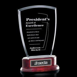 Jade Fraser Award on Piano Finish Rosewood Base 9in
