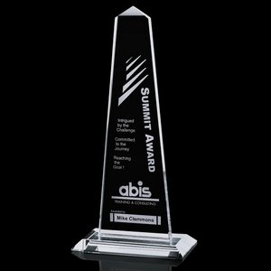 Bonaire Obelisk - Jade Glass Award 10.5 in.