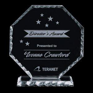 Stockton Award - Jade Glass Award 7 in.