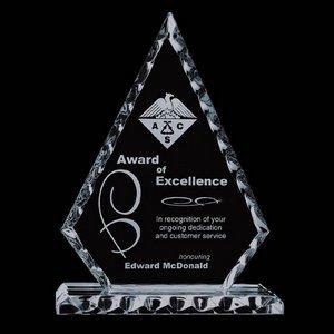 Conquest Award - Jade Glass Award 9 in.