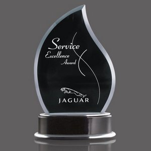 Parkhill Flame Award with Aluminum and Black Piano-Finish Base 8 in.