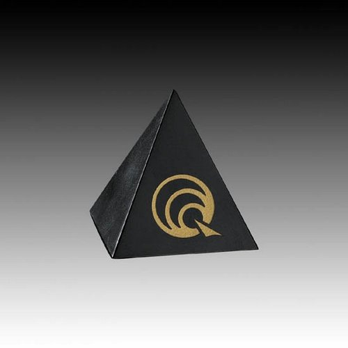 Black Marble Pyramid - 3 in.x 3 in.x 3 in.