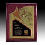 Braxton Plaque - Rosewood/Gold 8 in.x10 in.
