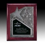 Braxton Plaque - Rosewood/Silver 8 in.x10 in.