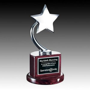 Evandale Star Award - Rosewood/Chrome 8 in.