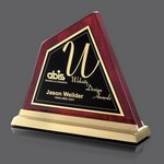Waddinton Peak Award - Rosewood/Gold 7 in.
