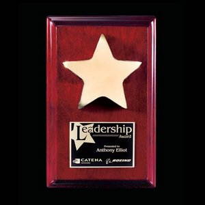 Appleby Star Award Plaque - Rosewood/Gold