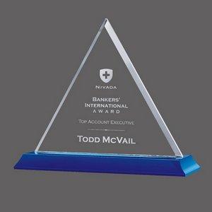 Dresden on Bartlett Starfire Crystal Award on Blue Base 6in