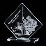 Wellington Starfire Crystal Award on Clear Base 5 in.