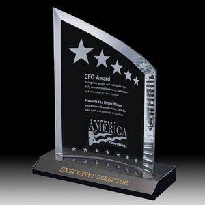 Hamilton Award - Starfire/Marble 8 in.